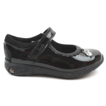 CLARKS SEA SHIMMER JUNIOR SHOE - BLACK PATENT H