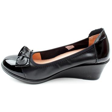 INEA SERENA BOW SHOE - Black