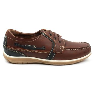DUBARRY SHEEN MENS LACED SHOE - BROWN MULTI