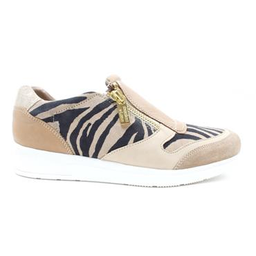 LOTUS SIAN ZIP SHOE - BEIGE MULTI