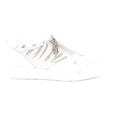 LOTUS SIAN ZIP SHOE - WHITE MULTI