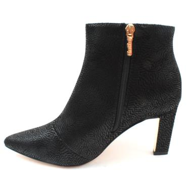 UNA HEALY SISTER GOLDEN ANKLE BOOT - BLACK SUEDE