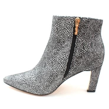 UNA HEALY SISTER GOLDEN ANKLE BOOT - BLACK/WHITE