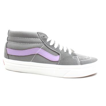 VANS SK8 MID LACED LOW BOOT - GREY PURPLE