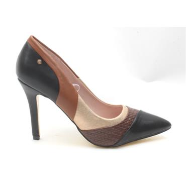 KATE APPLEBY SNOWDON COURT SHOE - BLACK MULTI
