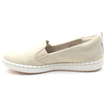 CLARKS STEP GLOW SLIP SHOE - GOLD D