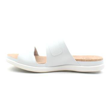 CLARKS STEP JUNE TIDE MULE - WHITE D