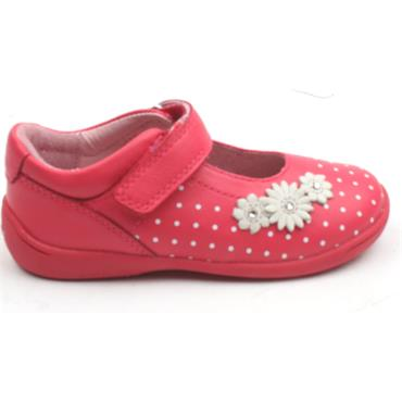 STARTRITE GIRLS SHOE SUPERSOFTDAISY - BRIGHT PINK F