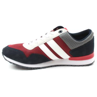 LLOYD&PRYCE TEMPLETON LACED SHOE - NAVY/RED