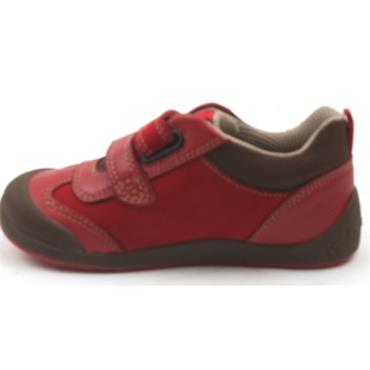 STARTRITE TICKLE VELCRO SHOE - RED G