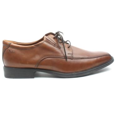 CLARKS TILDEN WALK MENS SHOE - DARK TAN H