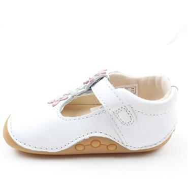 CLARKS TINY FLOWER T PREWALKER - WHITE F