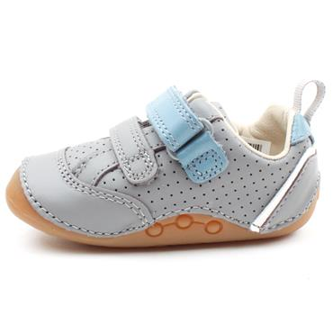 CLARKS TINY SKY T PREWALKER - GREY LEATHER F