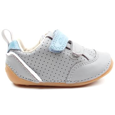CLARKS TINY SKY T PREWALKER - GREY LEATHER G