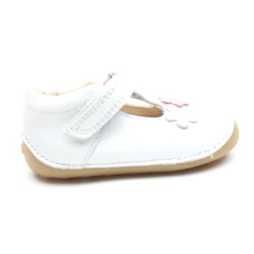 CLARKS TINY SUN T TODDLER SHOE - WHITE F