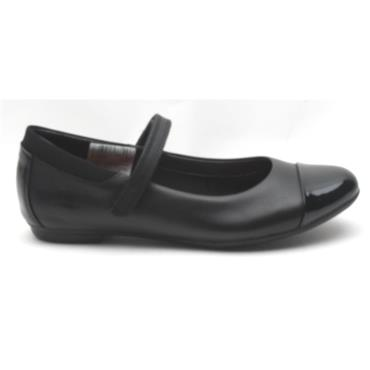 CLARKS TIZZ TALK STRAP SHOE - BLACK E