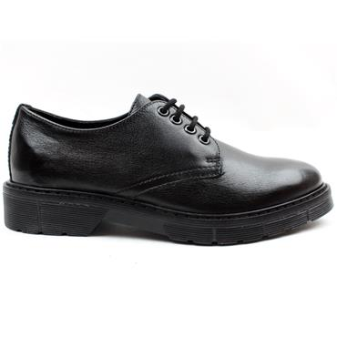 LADIES LACED DUBARRY SHOE - Black
