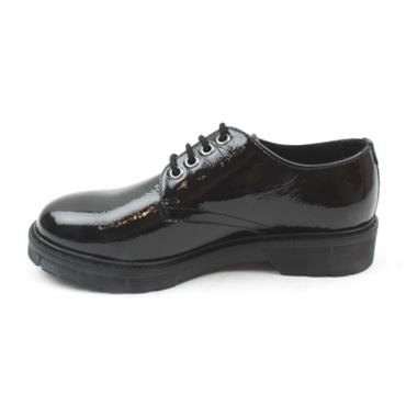 LADIES LACED DUBARRY SHOE - BLACK PATENT