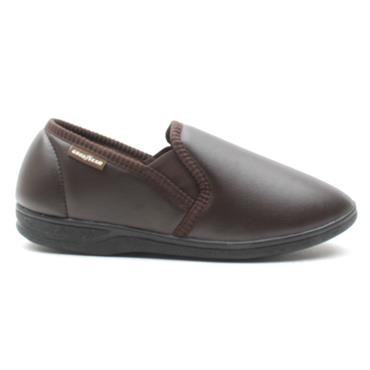 GOODYEAR  TRENT SLIPPERS - BROWN