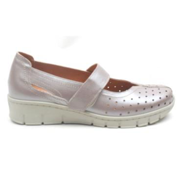 SOFTMODE TRUDY VELCRO SHOE - TAUPE
