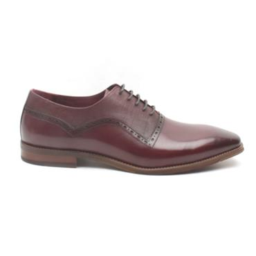 ESCAPE TRUMPS LACED SHOE - BURGUNDY
