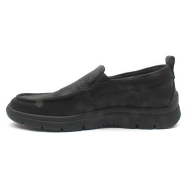 CLARKS TUNSIL WAY SLIP ON SHOE - BLACK G