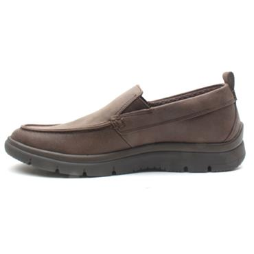 CLARKS TUNSIL WAY SLIP ON SHOE - BROWN G