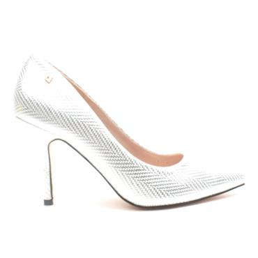 UNA HEALY TWO ANGELS COURT SHOE - SILVER