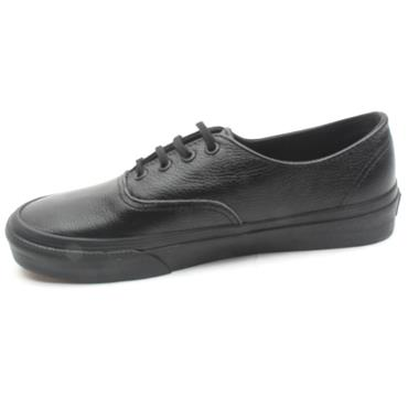 VANS UAUTHENTIC LACED SHOE - BLACK LEATHER