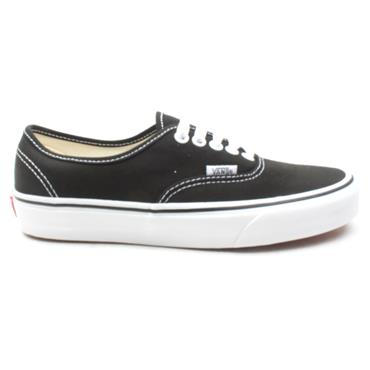 VANS UAUTHENTIC LACED SHOE - BLACK/WHITE