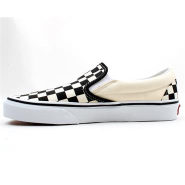 VANS U CLASSIC SLIP ON CANVAS SHOE - BLACK WHITE CHECK