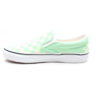 VANS U CLASSIC SLIP ON CANVAS SHOE - LIME