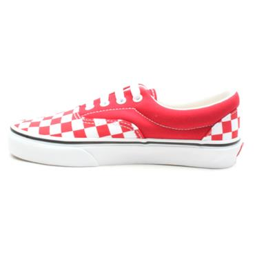 VANS UERA LACED SHOE - RED CHECK