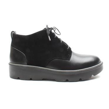 CLARKS UNBALSA MID LACED BOOT - BLACK D