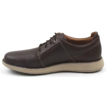 CLARKS UN LARVIK LACE 2 SHOE - BROWN G