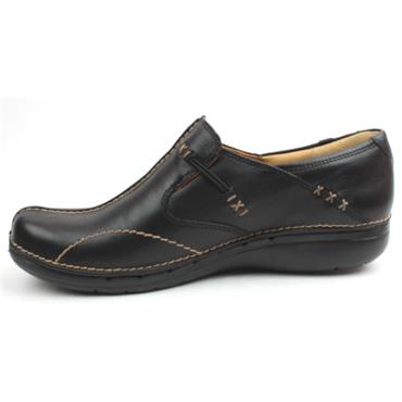 CLARKS LADIES SHOE UNLOOP - Black