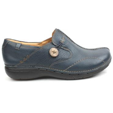 CLARKS LADIES SHOE UNLOOP - NAVY