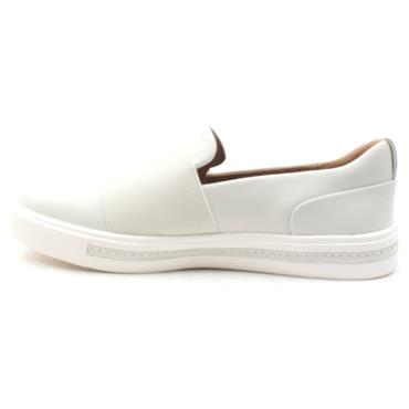 CLARKS UN MAUI STEP SLIP ON SHOE - WHITE D
