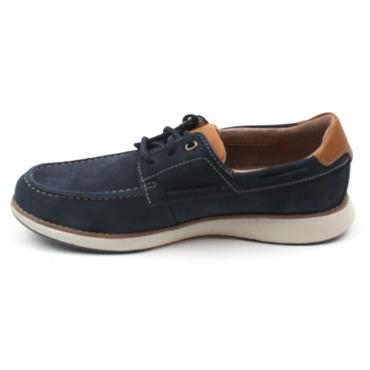 CLARKS UN PILOT LACE LACED SHOE - NAVY G