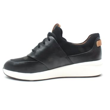 CLARKS UN RIO LACE SHOE - BLACK D