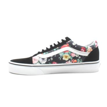 VANS UOLD SKOOL LACED SHOE - BLACK FLORAL