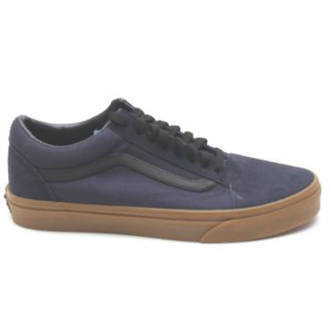 VANS UOLD SKOOL LACED SHOE - NAVY GUM