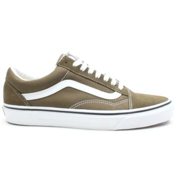 VANS UOLD SKOOL LACED SHOE - OLIVE