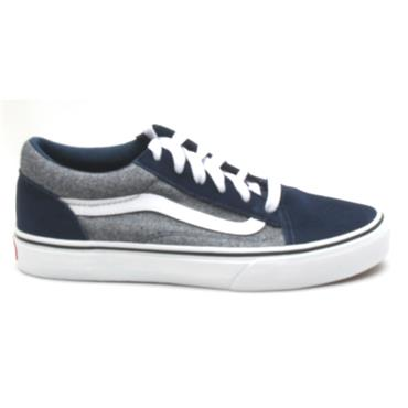 VANS UY OLD SKOOL JUNIOR LACED - DRESS BLUE