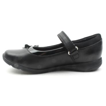 CLARKS VENTURE STAR BOW SHOE - BLACK F
