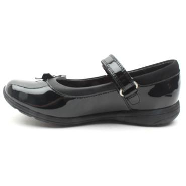 CLARKS VENTURE STAR BOW SHOE - BLACK PATENT F