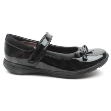 CLARKS VENTURE STAR BOW SHOE - BLACK PATENT H