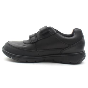 CLARKS VENTURE WALK VELCRO SHOE - BLACK F