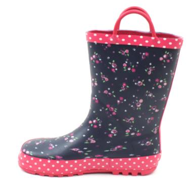 W409NP JUNIOR WELLIES - NAVY MULTI