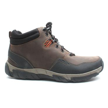 CLARKS WALBECKTOP 2 LACED BOOT - BROWN